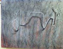 Coat Hangers - Done In Conte Crayon