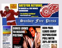 Sunday Detroit Free Press Modern Redesign (School Pjt)