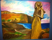 Easter Island - Done In Pastels