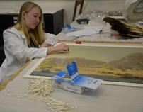 Octillos Palverdes Painting - Conservation Treatment