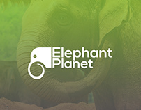 Elephant Planet Logo Design - Adobe Illustrator & Adobe