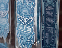 Aviation Theme Vodka Label