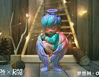 燃·野涂装作品:W36 Toy Lab-OTTO ·梦想树