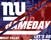 NY Giants 2015 Game Day Graphics