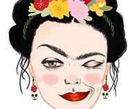 WUWU People- Frida Kahlo Emoji Design