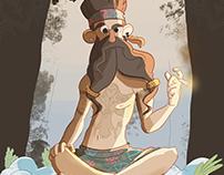 Character Design Challenge 2017 Hippie