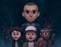 STRANGER THINGS 3D FANART