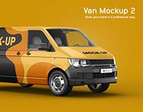 Volkswagen Transporter Van Mockup