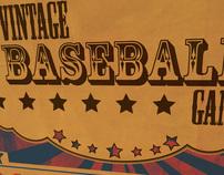 Vintage Baseball Game Poster Print