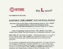 """Showtime Networks' """"THE L WORD"""" retail merchandising PR"""