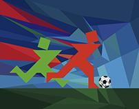 tangram soccer scenes