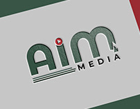 aim media logo design