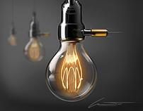 Lamp Socket & T.E Vintage Bulb