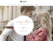 LeadGen - Marketing Landing Page - Wedding Invitation