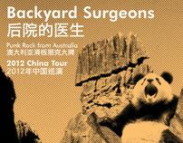 Backyard Surgeons China Tour Poster