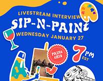 Sip-n-Paint with Megan Watters Promo