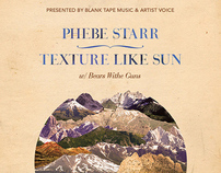Gig Poster - Phebe Starr & Texture Like Sun