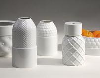 Vases texturés / Industreal / 2006