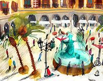 """URBAN SKETCHING """"La Plaça Dibuixa"""""""