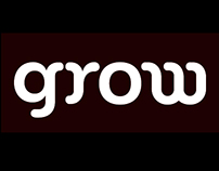 grow. Lettering & logotype for a modular texture