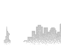 Pixelated New York City Skyline