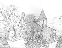Pencil Drawing: Chateau
