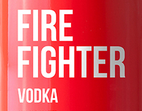 FIRE FIGHTER vodka design
