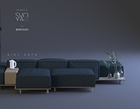 Airy sofa by SVOYA studio