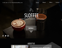 UI for Sloffee, coffee shop site built with PHP, MySQL