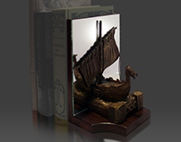 Viking Dragonboat – Bookend