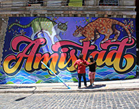 "Mural Tipográfico ""Amistad"""