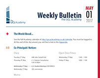The UCL Academy - Internal Newsletter (Redesign)
