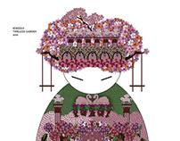 Kokeshi Doll - Timeless Garden, 2016.