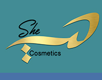 Cosmetics SHE - logo branding -