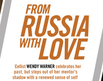 Strings magazine feature on cellist Wendy Warner