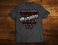 Basketball Champions T-Shirt Design