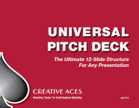 """Universal Pitch Deck"" Ebook for Self Promotion"