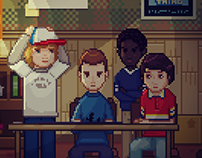Stranger Things Adventure Game Fan Art