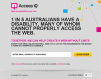Access iQ Interactive landing page design