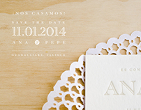 Wedding Invitations . Ana & Pepe