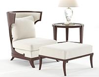 3D Model |Baker | Atrium armchair