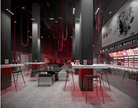Project of the interiors of the cinema