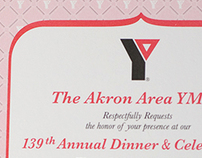 Akron Area YMCA Dinner Invitation