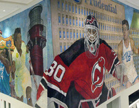 200ft Mural at the NJ Devils Prudential Ct. Arena