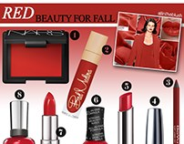 Red Beauty Trend board for All in the Blush.