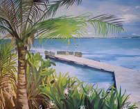 House Mural- The Ocean View from Bonair