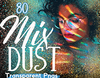 80 MIX GOLD DUST - transparent png overlays golden dust