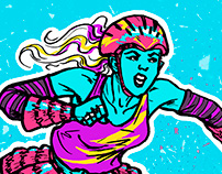 Roller Girl (Character Design Challenge)