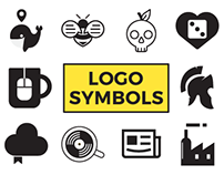 Logo symbols black and white.