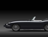Jaguar E-Type Vector Illustration